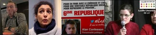 """Antoine Back, Samia Djidel, Alan Confesson, Lucile Lheureux les 4 élus d'extrême gauche qui ont refusé de se lever pour """"la Marseillaise"""""""