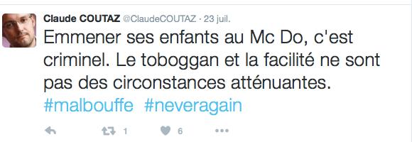 le tweet particulièrement odieux de C.Coutaz
