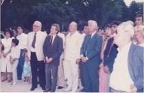 De très nombreux grenoblois se sont rendu à Réhovot avec Alain Carignon et Louis Blum. On reconnait ici Robert-Jules Laurent, Monique Sachi-Meunier élus de la municipalité Carignon