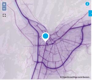 La carte de la pollution (Air Rhône Alpes) démontre que les deux bouchons sont les deux premières causes de la pollution d'origine automobile