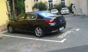 La limousine neuve offerte par C.KIrkyacharian la première Vice Présidente (Verts/Ades) à C.Ferrari et sa place de parking réservée devant sa mairie!