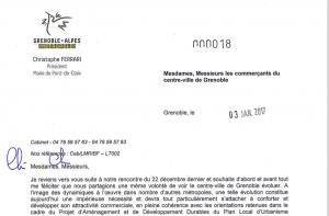 la réponse de Christophe Ferrari : le projet Piolle bénéficie d'un large soutien