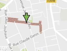 La rue CDT Perreau à proximité de la rue Léon Jouhaux