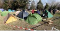 la campement Valmy su terrain municipal ( photo le DL)
