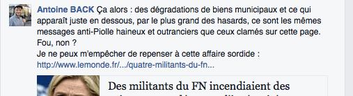 saleté de Grenoble: Antoine Back avait déjà vu la main de l'extrême droite