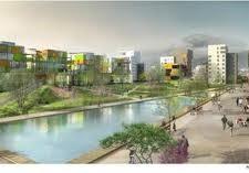Le quartier de Bonne présenté par M.Destot (PS) , conçu par P.Kermen (Verts/Ades) exécuté par Ph.de Longevialle ( app PS): on ne voyait que du vert...