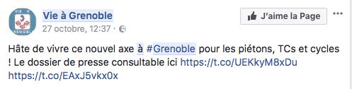 vie à Grenoble: la caricature de la propagande
