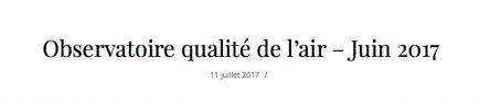 """la municipalité a créé un faux """" observatoire de la qualité de l'air"""" à partir d'un faux site """" vie à Grenoble"""""""