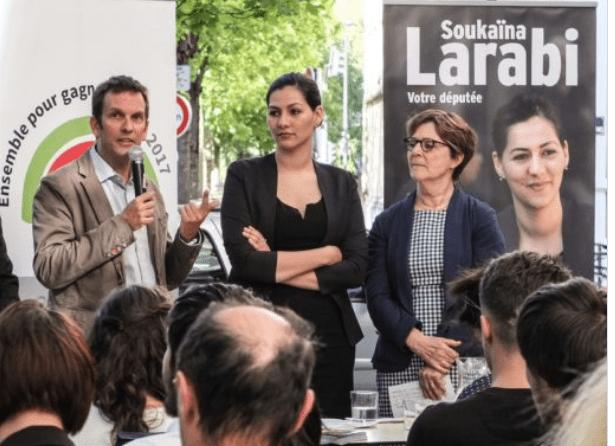 """En juin dernier Soukaina Larabi ( au centre ) ex PS était montée en épingle par le clan ( entourée de N.Kadra et M.Boileau) : elle a disparu des """"nouveaux métropolitains"""" !"""