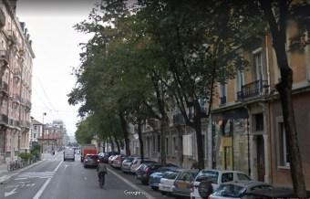 Rue Lesdiguières avant le passage ...