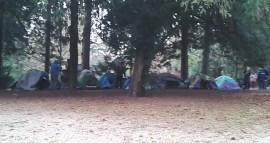Le camp se reforme parc Paul Mistral