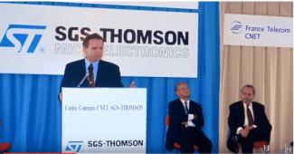 Alain Carignon inaugurant SGS micro à Crolles: cette victoire apportera des milliers et des milliers d'emplois dans la filière