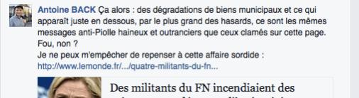 accusant... l'extrême droite de dégrader Grenoble