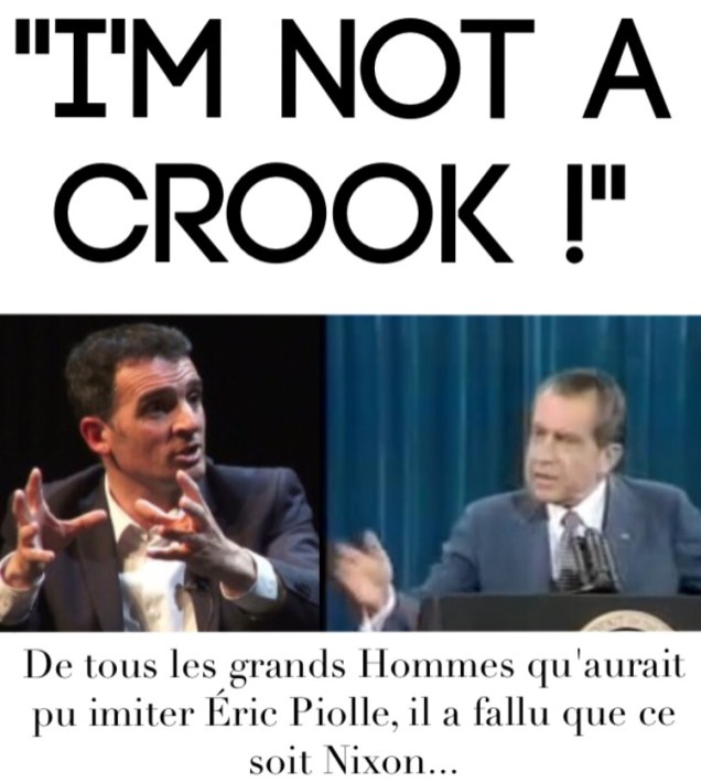 Piolle Nixon je ne suis pas 1 escroc