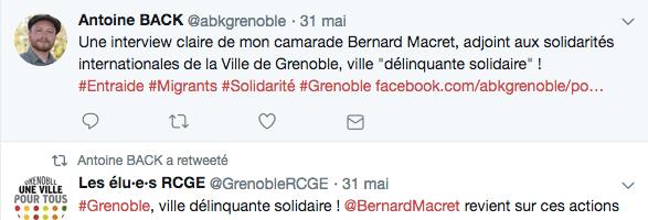 """Antoine Back et Bernard Macret, deux élus extrémistes veulent faire de Grenoble une """"ville délinquante"""" : c'est réussi"""