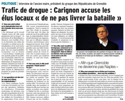 Alain Carignon est le seul a avoir pris très tôt la mesure des dégâts et à proposer des solutions concrètes courageuses