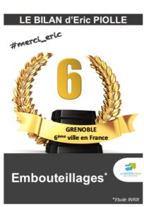 """Grenoble est la 13 eme agglomération Française: M.Destot en avait fait la 10 eme pour les embouteillages. E.Piolle a """"gagné"""" 4 places en 4 ans: nous sommes la 6 eme ( source Inrix)"""