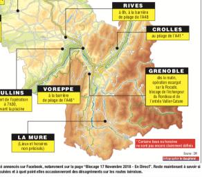 La carte publiée par le Dauphiné