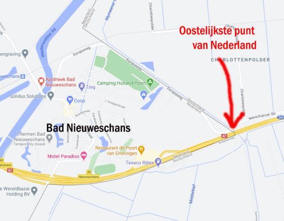 Kaartje Bad Nieuweschans