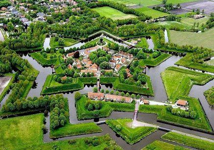Luchtfoto van Bourtange