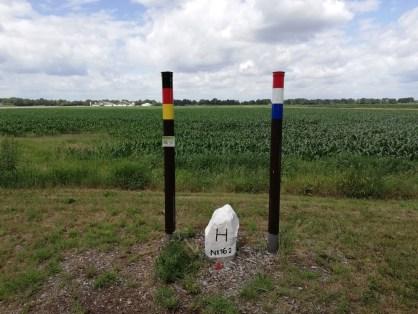 Bij het 'drielandenpunt', het zuidelijkste punt van Groningen
