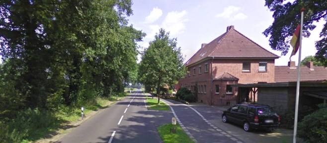 Grensovergang Laagse Paal (Google Streetview)