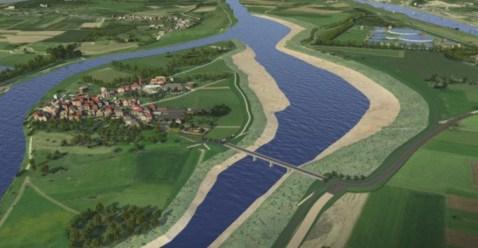 Afbeelding van toekomstig eiland Maasband