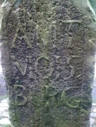 Rückseite vom Moisburger Stein.