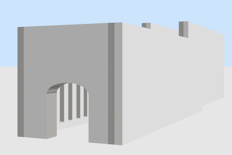 Step one of new image: Basic Architecture using Sweet Home 3D