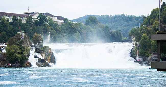 A quick photo opportunity at the Rhine Falls