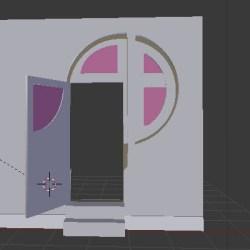 More of the door   #Blender