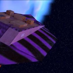 First rough of new Spaceship scene  #Blender