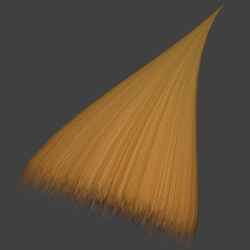 Making a simple hair transparent texture in Photoshop, GIMP, Paint.NET