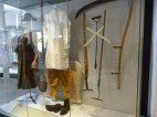 Beautiful agricultural labourers' clothing and tools installed.