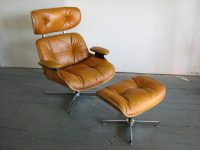 Selig 1975 Lounge Chair and Ottoman Gre-StuffGre-Stuff