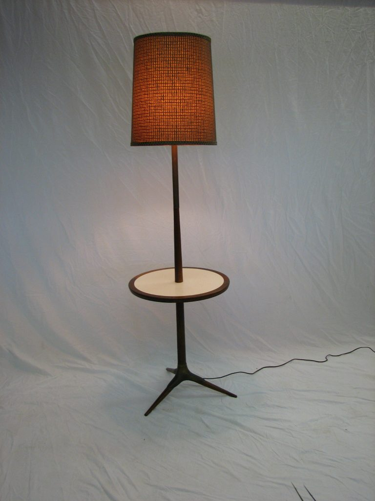 Mid Century Modern Floor lamp / table set