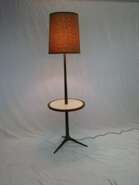 Mid Century Modern Floor lamp / table set