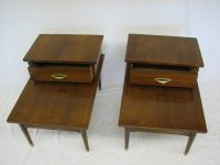 Mid Century Modern step end tables (2) Specializing in Mid ...