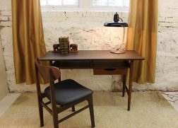 mid century modern floating desk front