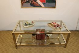 brass and chrome coffee table (1)
