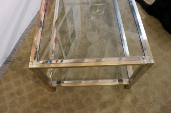 brass and chrome coffee table (12)
