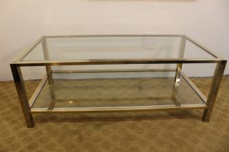 brass and chrome coffee table (15)