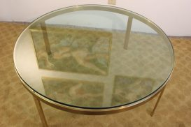 brass and glass coffee table (4)