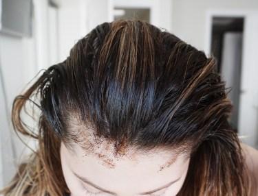 rub coffee into the scalp
