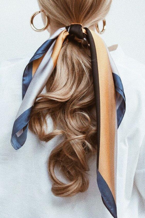 hair inspo, hair ideas, how to tie hair using scarf