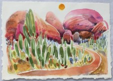The Road In, 2017, watercolour