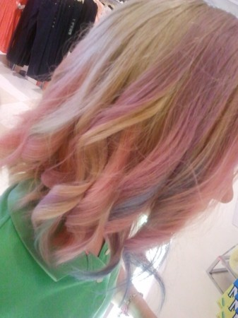 ombre hair chalking with my hair chalk how was your day