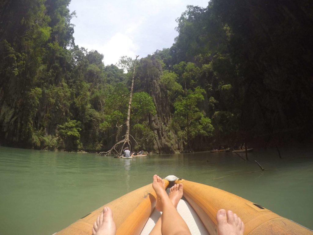 Kayaking in hidden lagoons in Phang Nga Bay