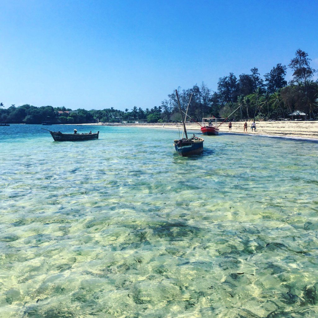 Crystal clear waters in Malindi