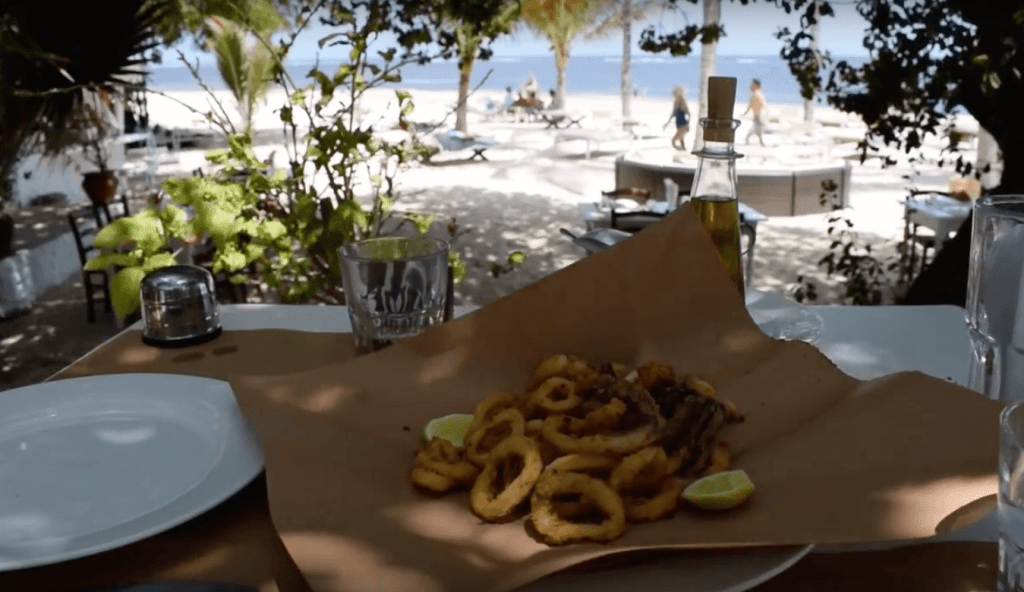 Lunch on the beach at the Osteria Beach Restaurant in Malindi